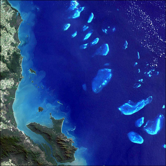Great Barrier Reef from Spacr